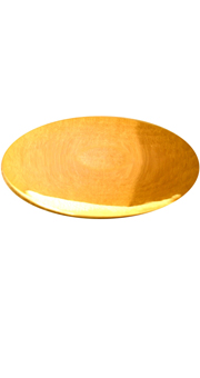 Paten: Polished Gold Plated (24 Kt) Paten